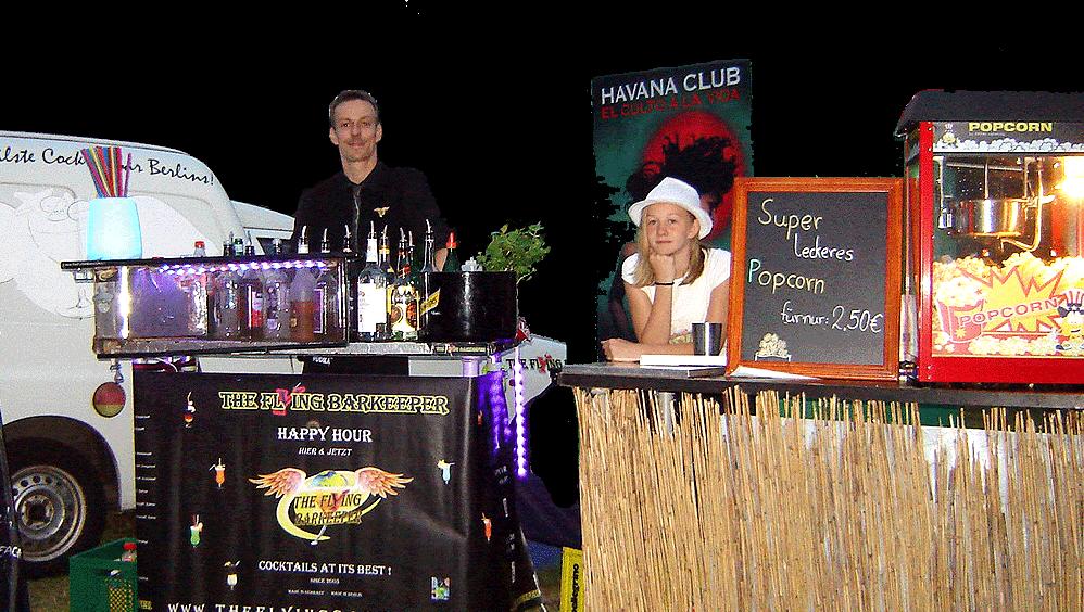 The Flying Barkeeper Veranstaltungen Kino-Openair mit Popcornmaschine